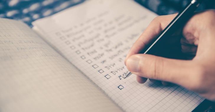 メモ帳にチェックボックス付きのリスト