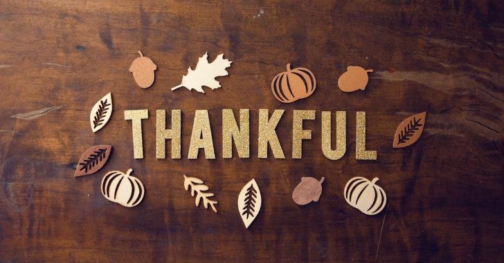 THANKFULという文字